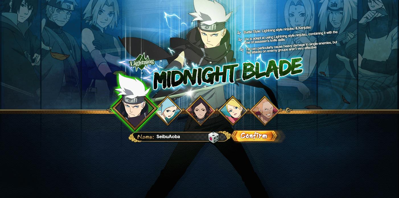 Naruto Online Lightning Main Midnight Blade Guide