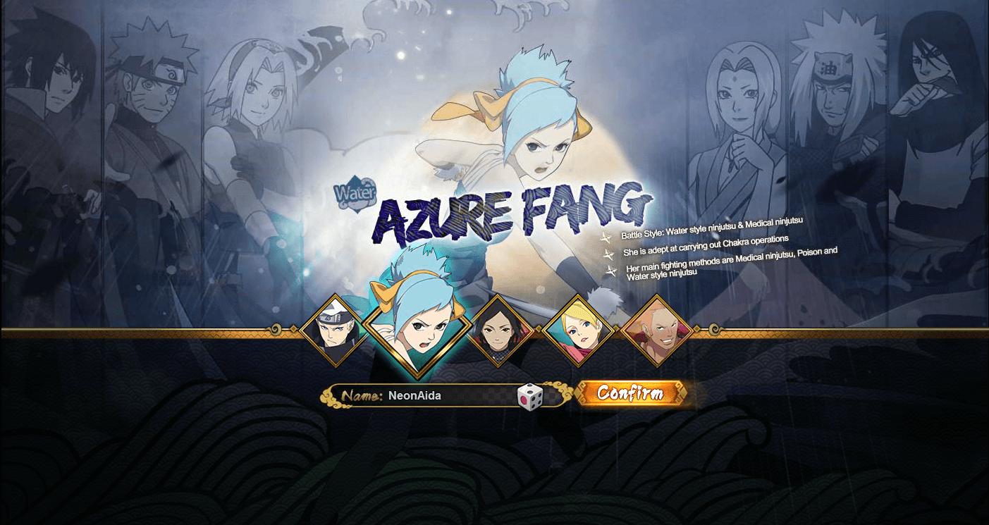 Naruto Online: Water Main / Azure Fang Guide