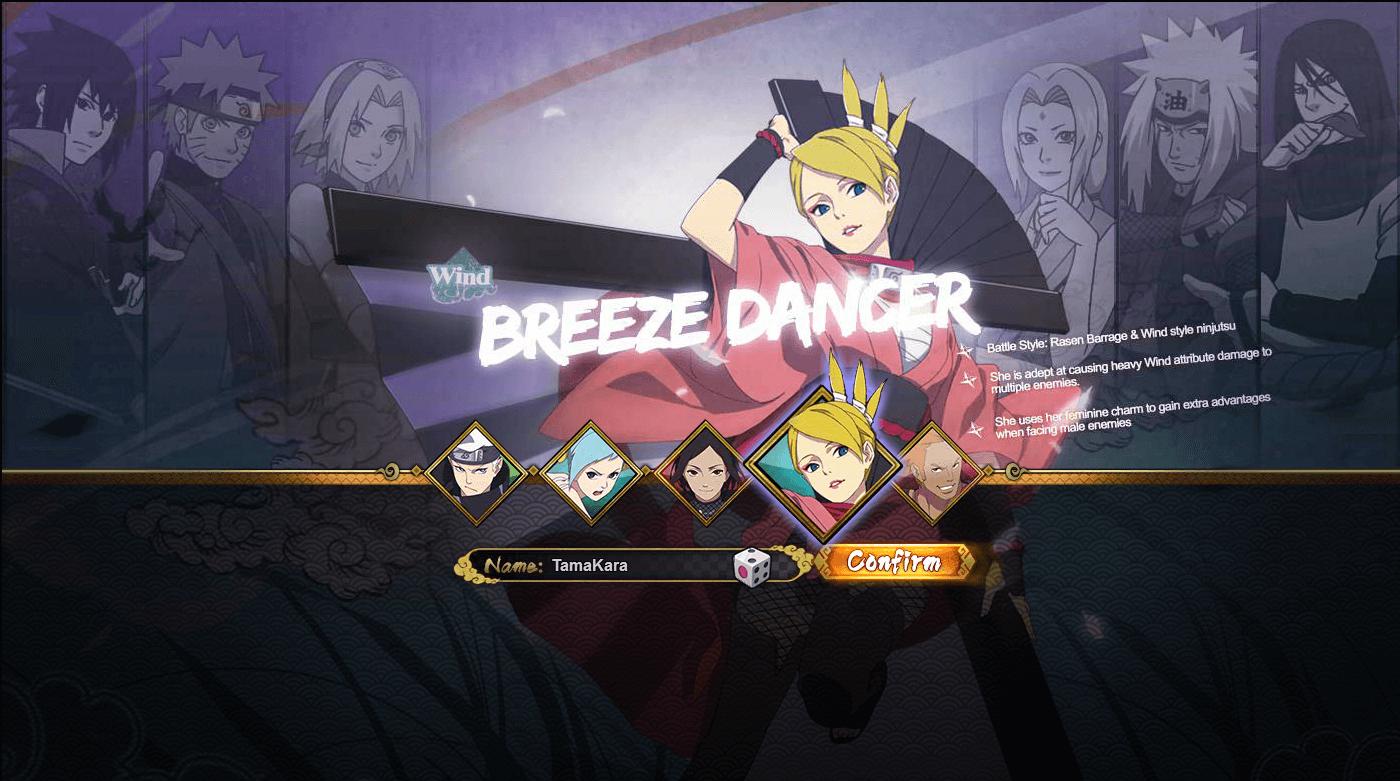 Naruto Online: Wind Main / Breeze Dancer Guide